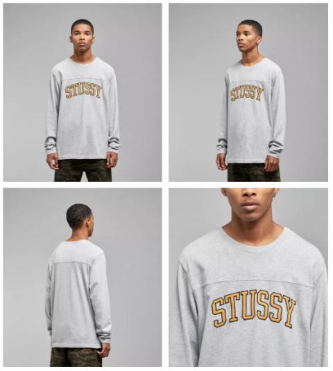 SAVE 10% - Stussy Kent Football Long Sleeved T-Shirt!