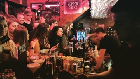 Come down after a dragged evening of late night shopping and chill with a drink in your hand!