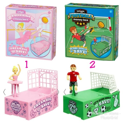 SALE - Ballet Or Footy Moneybox!