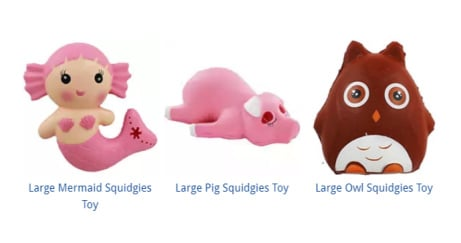 Squidgy Toys from ONLY £4!