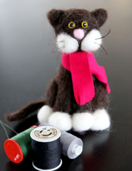 Check out our range of Dolls & Soft Toys - Needle Felted Cat £40.00!