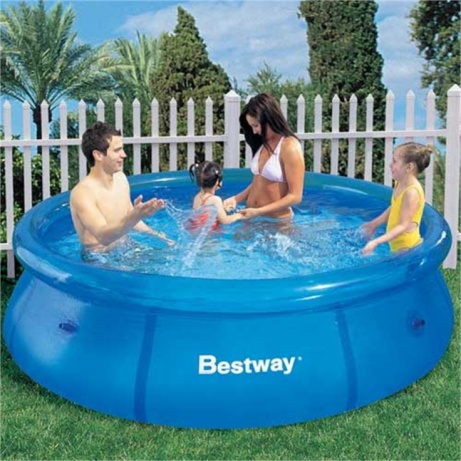 FUN IN THE SUN! Clear Fast Set 8ft Pool - ONLY £34.99!