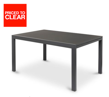 SAVE 1/3 on SUMATRA METAL 4 SEATER EXTENDABLE DINING TABLE!