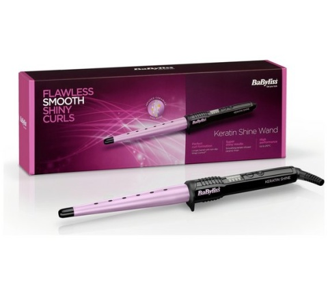 TOP TRENDING CHRISTMAS GIFTS - BaByliss Keratin Shine Curling Wand, SAVE £5.00!