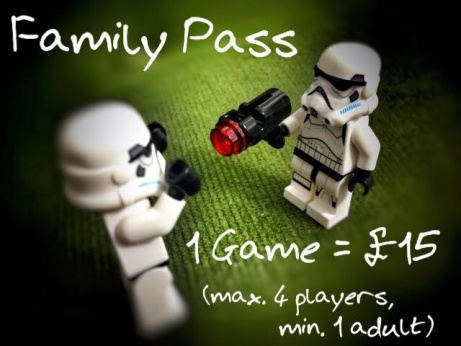 Drop in for one Game for £15.00 - The Family Pass!