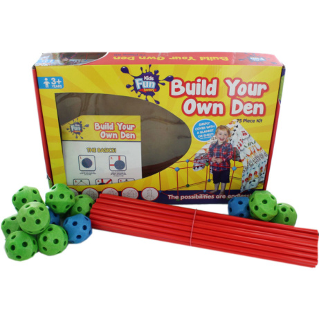 Build Your Own Den - 75 Piece Kit - ONLY £12!