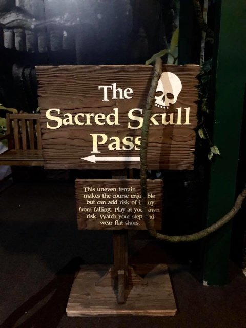 The Sacred Skull Pass course is closed for maintenance!