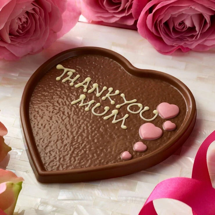 3 FOR £20.00 - Milk Chocolate Heart Plaque (100g): £8.00!