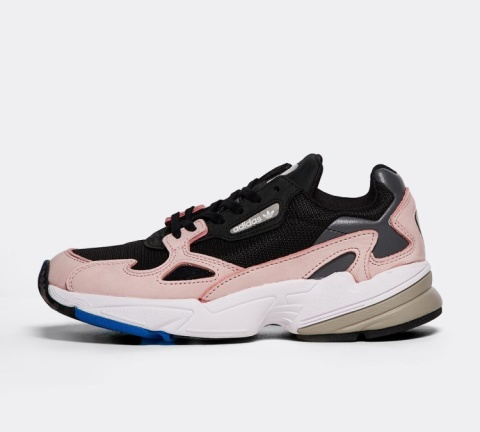 XMAS GIFT IDEAS - adidas Originals Womens Falcon Trainer | Core Black / Core Black / Light Pink £84.