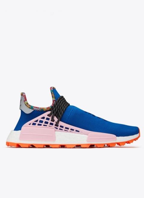 SALE, GET 40% OFF - adidas Pharrell Williams Hu NMD In Power Blue/Light Pink/Orange!