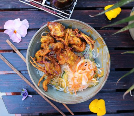 Come down to the Coco Tang cafe and try our Soft Shell Crab dish!