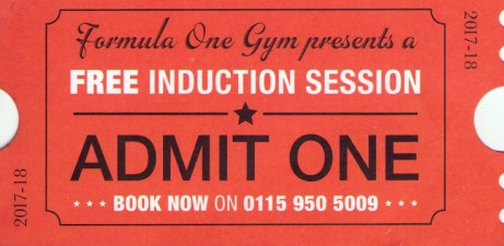 Get a free induction lesson by using this Voucher