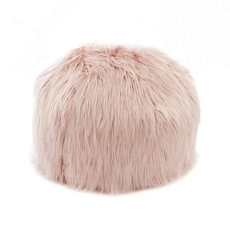NEW PRODUCTS ADDED - Blush Pink Small Mongolian Faux Fur Bagel: £69.00!
