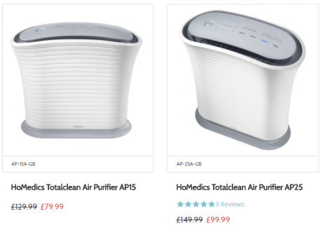 HoMedics Totalclean Air Purifier Sale - SAVE up to 1/3!