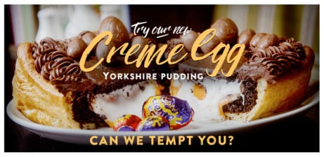 UK's first giant Creme Egg Yorkshire pudding.