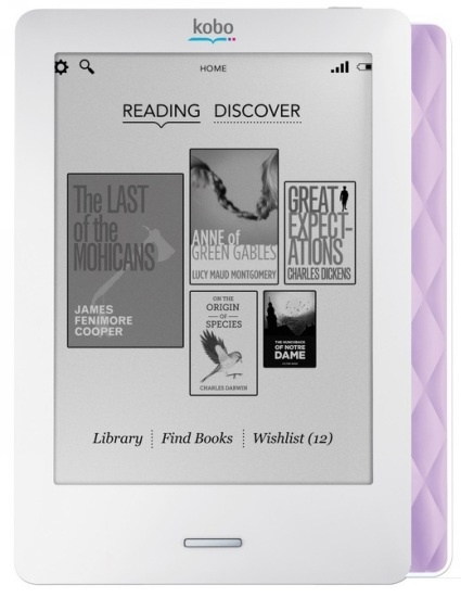 OVER 60% OFF - Kobo Touch Lilac eReader!