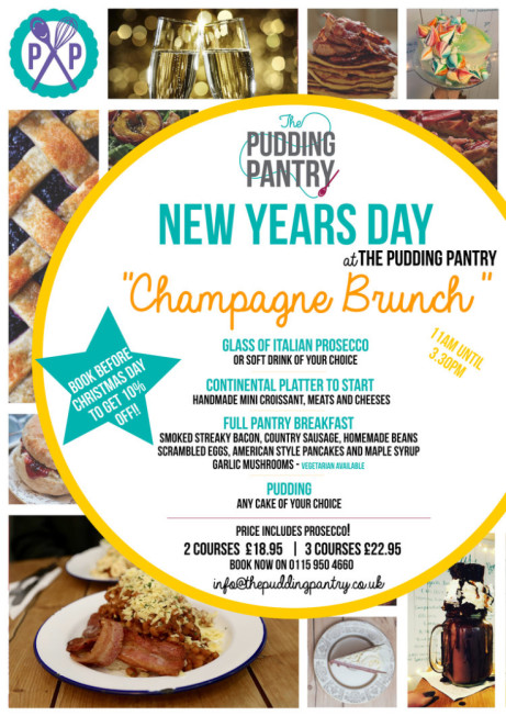 Book your New Years Day Champagne Brunch before Christmas Day and get 10% OFF!
