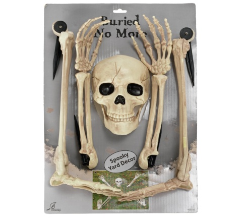 OUTDOOR HALLOWEEN DECOR - Large Buried Alive Skeleton Set £9.99!