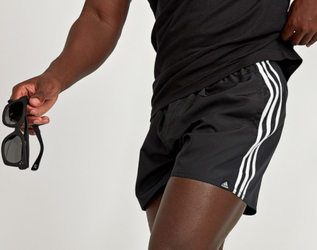 20% OFF - adidas Performance 3-Stripe Basic Swim Short in Black!