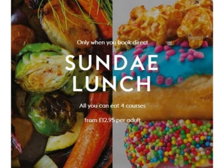 SUNDAE LUNCH! 4-Courses from only £12.95 per adult!