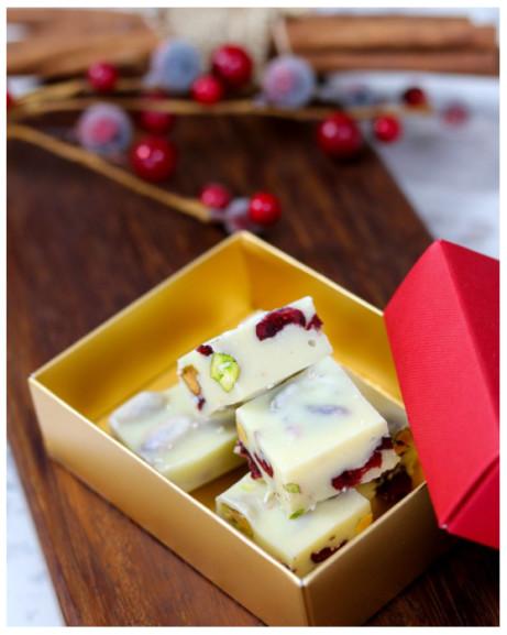 Pistachio and Cranberry Fudge in Gift Box - £7.50!