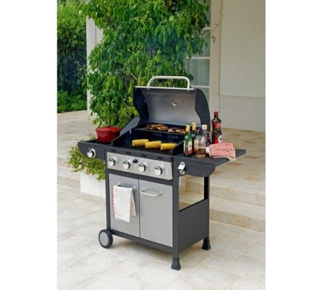 SAVE 35% on this Deluxe 4 Burner Gas BBQ with Cover!