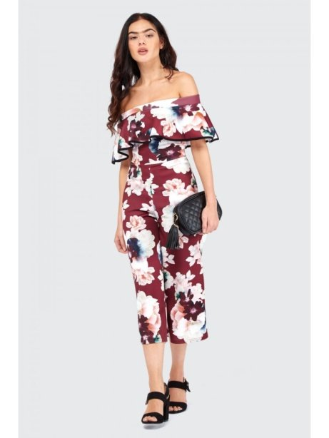 50% OFF this Frill Bardot Culotte Jumpsuit!