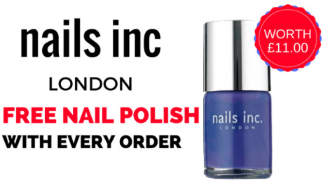 FREE Nail Polish with EVERY ORDER!