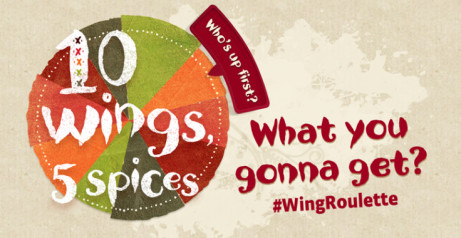 Share our new Wing Roulette for just £10.95!