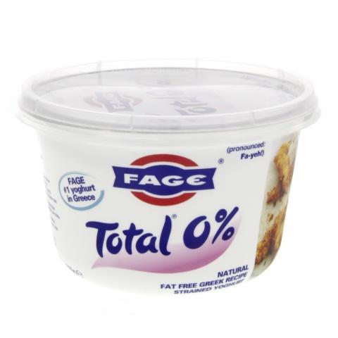 FAGE Total 0% Natural Fat Free Greek Recipe Strained Yogurt 170g