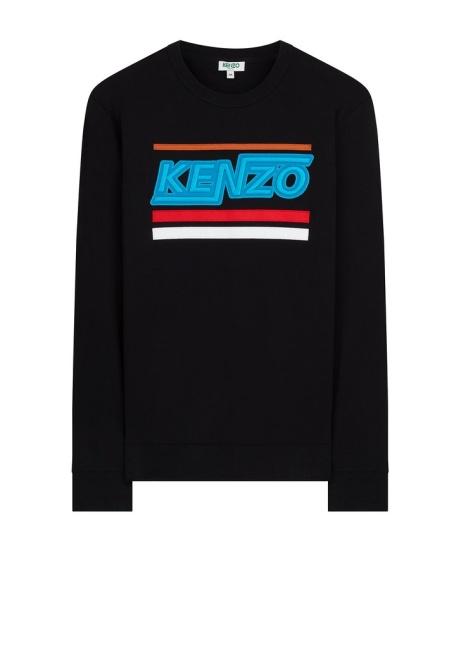 SAVE £53.00 - Kenzo SS18 'Hyper KENZO' Crew Neck Sweatshirt in Black!