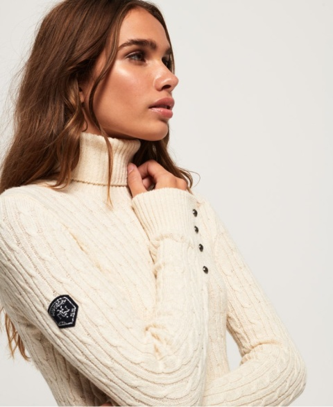 2 FOR £60.00 - Croyde Roll Neck Cable Knit Jumper!