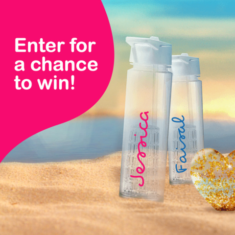 WIN a Personalised Official Love Island Water Bottle