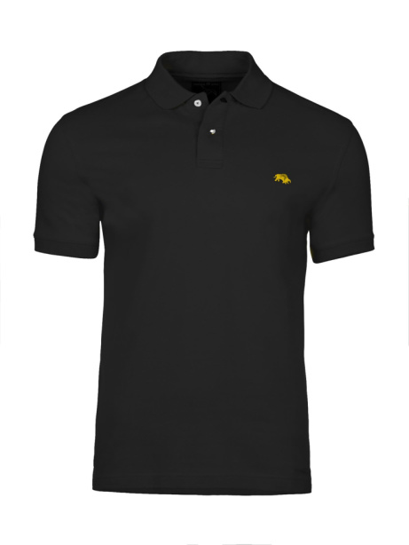 SAVE 20% OFF Muscle Fit Plain Polo - Black!