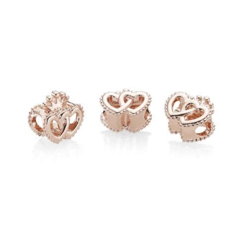 NEW - PANDORA ROSE UNITED REGAL HEARTS CHARM £45.00!