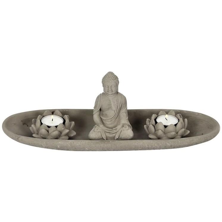 Zen Buddha candle set Display