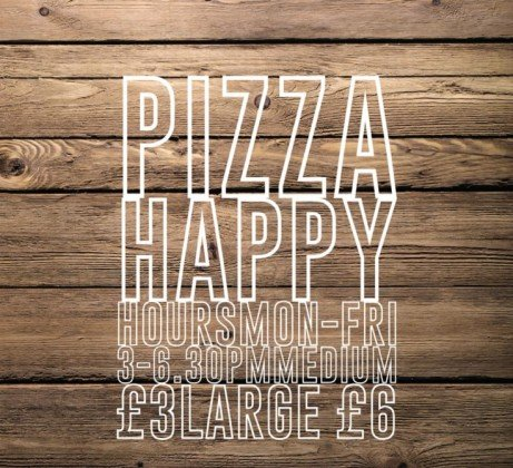 Pizza Happy Hours happen every weekday! 3pm - 6:30pm