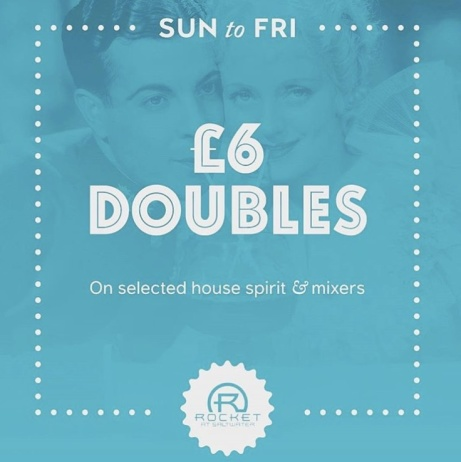 We have plenty of offers on all week - Including £6.00 Doubles Sunday to Friday on house spirits!