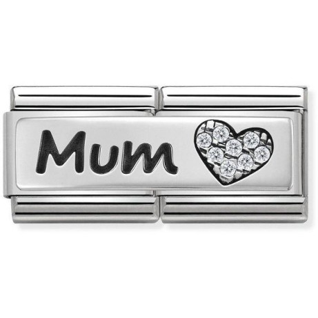 NOMINATION CLASSIC DOUBLE LINK MUM HEART CHARM: £36.00!