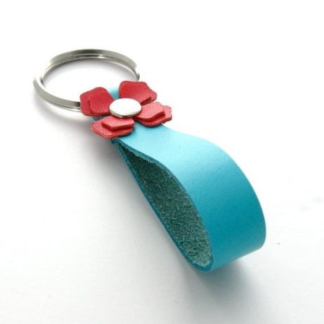 BRIGHT LEATHER KEYRINGS - £18.00!