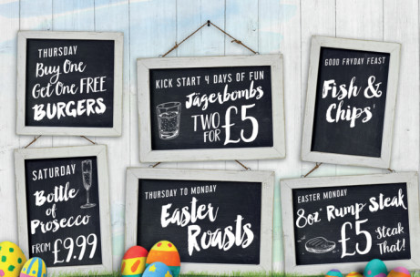 Join us for our Easter Weekend Bank Holiday Bonanza!