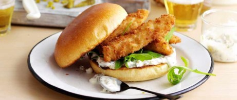 Join us for Lunch - Enjoy a dish like our Fish Finger Brioche £7.95!