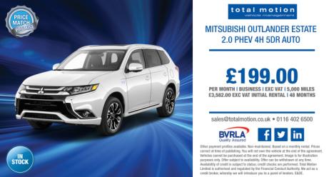 Affordable Hybrid Leasing | Mitsubishi Outlander PHEV 4h Auto for £199 + VAT P/M!