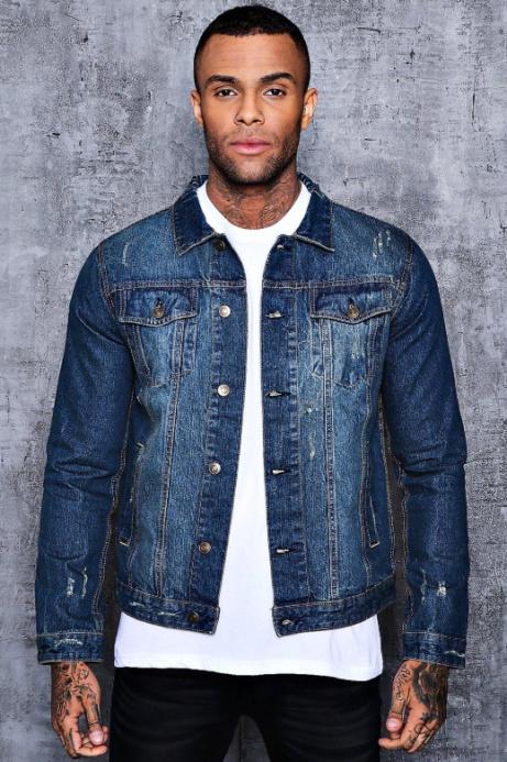 50% OFF - Washed Blue 4 Pocket Denim Jacket!