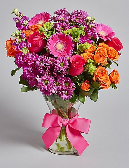 SAVE 14% on this Vibrant Spring Bouquet with FREE VASE!