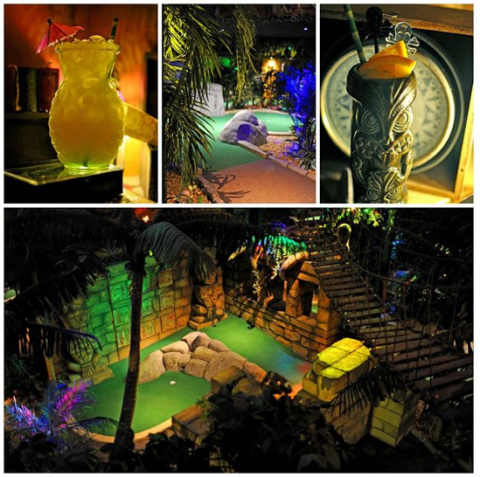 Looking for somewhere different to go tonight? Try 18 holes of mini golf!