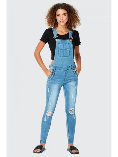 SAVE 20% on these Rip Detail Pocket Long Dungarees!