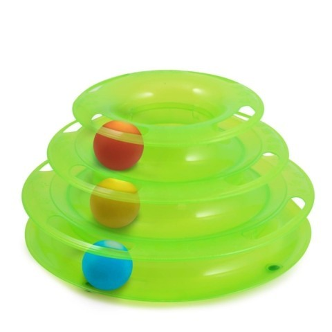 Cat Toys - Ancol Tower of Tracks 25cm x 12cm: £4.25!