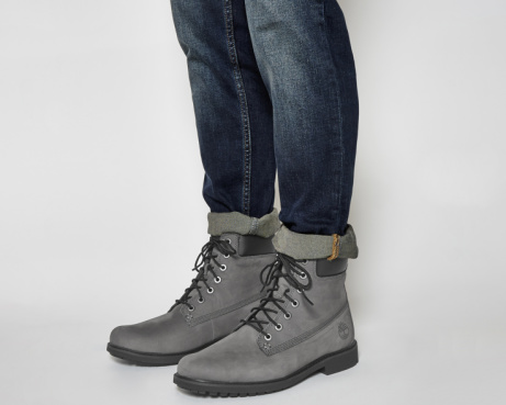 SAVE 36% on Timberland Mens Slim Boots Eiffel Tower Grey Nubuck!