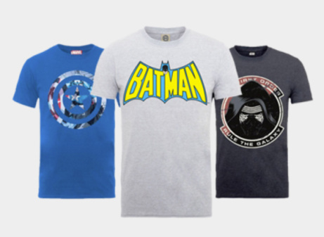 2 for £20 on these Geeky Men's T-shirts - SAVE up to 44%!